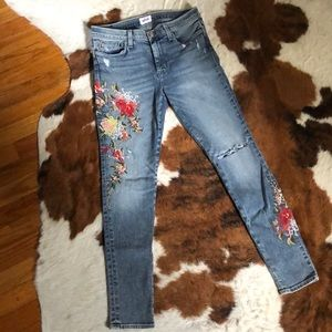 Embroidered Hudson jeans